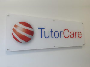 Tutor Care indoor sign