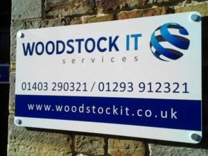 Woodstock IT outdoor sign